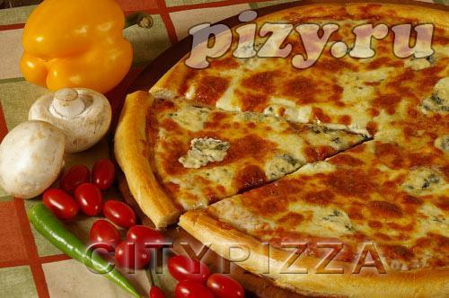 """Пицца """"4 сыра"""" от """"CITY pizza"""", Москва"""