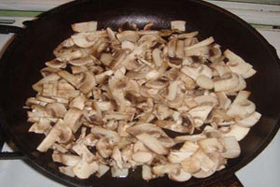 рецепт пицца грибы