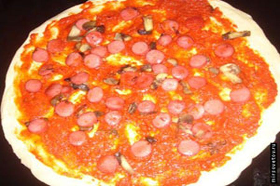 рецепт пицца колбаса
