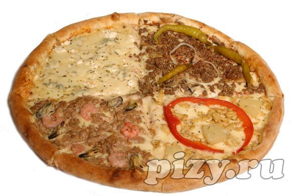 """Пицца """"Кватро Стаджиони"""" от """"Ital-pizza"""", Москва"""