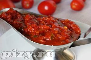 "Рецепт соуса ""Сацебели"" с помидорами"