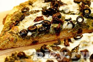 Рецепт пиццы с соусом песто