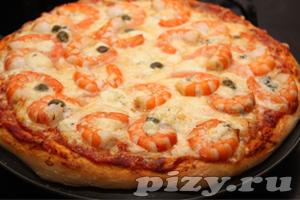 Рецепт пиццы с креветками