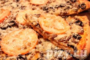 Рецепт пиццы с грибами