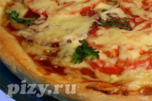 Рецепт пиццы с грибами и колбасой
