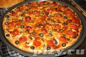Фото рецепт очень вкусной пиццы