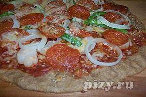 Рецепт пиццы с пепперони на цельнозерновой муке