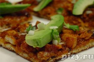 Рецепт пиццы на гриле с мясом цыпленка