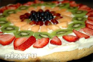 Рецепт домашней фруктовой пиццы