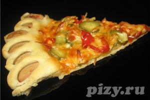 Рецепт пиццы с вкусным краешком