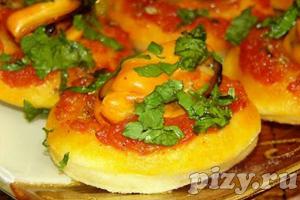 Рецепт фокаччине пиццы с мидиями