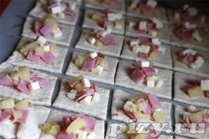 Рецепт фаршированных пицца-булочек