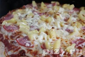 Рецепт пиццы Гавайская с беконом