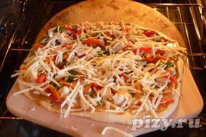Рецепт тайской пиццы с курицей