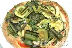 Видео-рецепт Зеленой пиццы