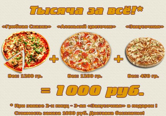 Доставка пиццы от Пиццирина, Челябинск